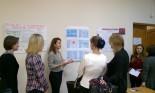 Е.Кешкова (4 курс) рассказывает гостям о lingua franca