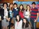 Студенты - авторы коллективной стендовой презентации - и их преподаватель, вице-президент TESOL Italy