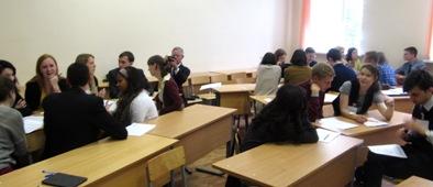 Американские гости на занятии со студентами фак-та иностранных языков