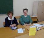 Куратор проекта доц. Н.А.Пузанова и директор музея РГПУ Е.М.Колосова представляют перевод книги